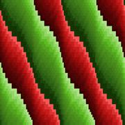 Abstract seamless wavy red and green stripes - stock illustration