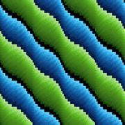 Abstract seamless wavy blue and green stripes Stock Illustration