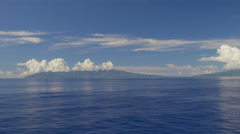 View of Tahiti Island from Pacific Ocean, Papeete, Tahiti, French Polynesia Stock Footage