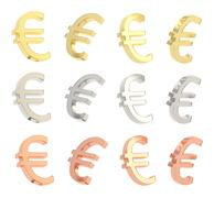 Euro currency sign set isolated - stock illustration