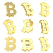 Stock Illustration of Bitcoin currency sign render