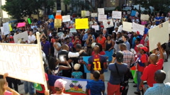 Protest for Haitian immigrant rights  Stock Footage
