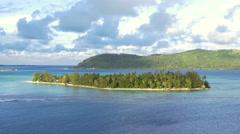 View of Bora Bora Island, French Polynesia - stock footage