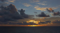 View of Bora Bora Island at sunset, French Polynesia Stock Footage