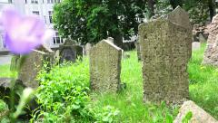 Old monumental  cemetery Stock Footage