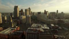 Detroit Aerial Stock Footage