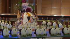 Desserts display in Gala Buffet, Ho Chi Minh, Vietnam Stock Footage