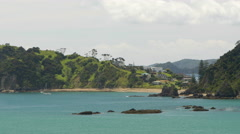 View of Bay of Islands, North Island, New Zealand Stock Footage
