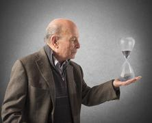 Elderly and the passage of time Stock Photos