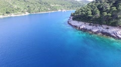 Static aerial with drone scene of bay in the dalmatian coast, Croatia. Stock Footage