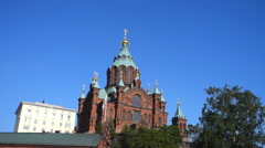 The Finnish Orthodox Cathedral, Helsinki Stock Footage