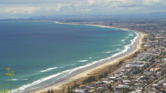 View of Mount Maunganui from The Mount, New Zealand Stock Footage