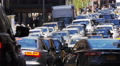 Heavy street traffic on Manhattan, New York City Footage