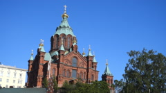 Uspenski Cathedral, Helsinki Stock Footage