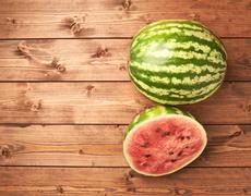 Watermelon composition Stock Photos