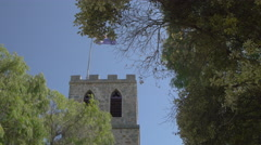 Australian flag waving on town hall, Albany, Australia Stock Footage