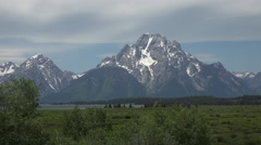 Grand Teton National Park mountain valley 4K Stock Footage
