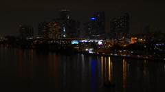 View of cityscape at night, Miami, Florida, USA Arkistovideo