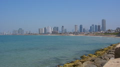 Panoramic landscape view of Tel Aviv Stock Footage