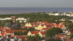 View of cityscape overlooking sea, Dominican Republic Stock Footage