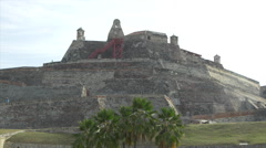 Castillo San Felipe de Barajas fortress in Cartagena, Colombia Stock Footage
