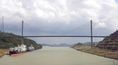 View of Centennial Bridge, Panama Stock Footage