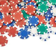 Surface covered with casino chips Kuvituskuvat