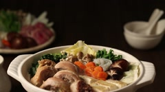Japanese style casserole Stock Footage