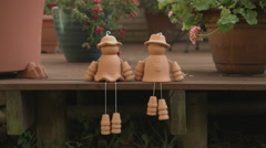 Cute Terracotta Garden Decorations - stock footage