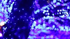 Christmas illuminations Stock Footage