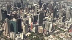 Aerial view of Melbourne CBD, Australia Stock Footage