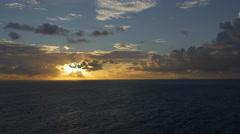 View of Bora Bora Island at sunset, French Polynesia - stock footage