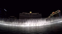 The Bellagio fountains in Las Vegas 2015 Stock Footage