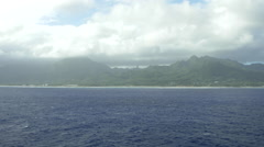 View of Pacific Ocean and mountain in Bora Bora Island, French Polynesia - stock footage