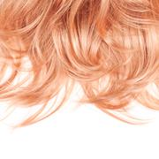 Hair fragment over the white - stock photo
