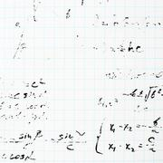 Trigonometry math equations and formulas - stock photo