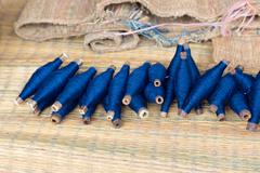 Reel thai natural indigo dye Stock Photos