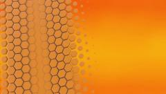 MG Intro Hexagon Yellow fillscreen mid right to left wave 14sec MP4 1920x1080.mp Stock Footage