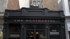 Entrance of The Occidental Belgian Beer Cafe, Auckland, New Zealand Stock Footage