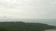 View of sea and forest in Auckland, North Island, New Zealand Stock Footage