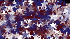 4k Stars particle background,USA United States American flag five-pointed star. Stock Footage