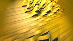 MG Intro Yellow Band Wave Side to Top View 15sec 1080p.mp4 Stock Footage