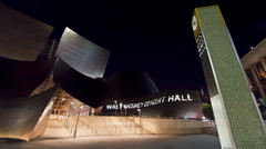 Walt Disney Concert Hall in downtown, Los Angeles, California, USA Stock Footage