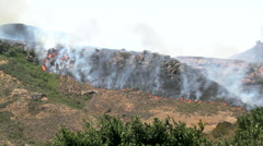 Forest fire in rocky mountains near Camarillo Springs area, Camarillo, Stock Footage