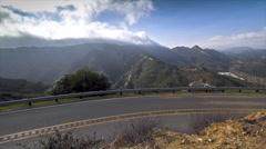 View of highway and Santa Monica Mountains, Calabasas, California, USA Stock Footage