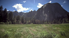 Twin Peaks in Yosemite National Park, California, USA Stock Footage