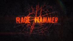 Rage Hammer - Fiery crack Logo Reveal - stock after effects