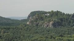 Timelapse Sanstone Rocks and Forest In Saxon Switzerland 10 - stock footage