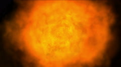 4k Hot Fire ball burn background,Abstract powerful particle smoke power energy. Stock Footage
