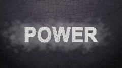 Power. Motivational Animation Titles. Inpired Logo for Trailers Stock Footage